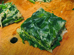 Photo: square of steamed mixed chive cake
