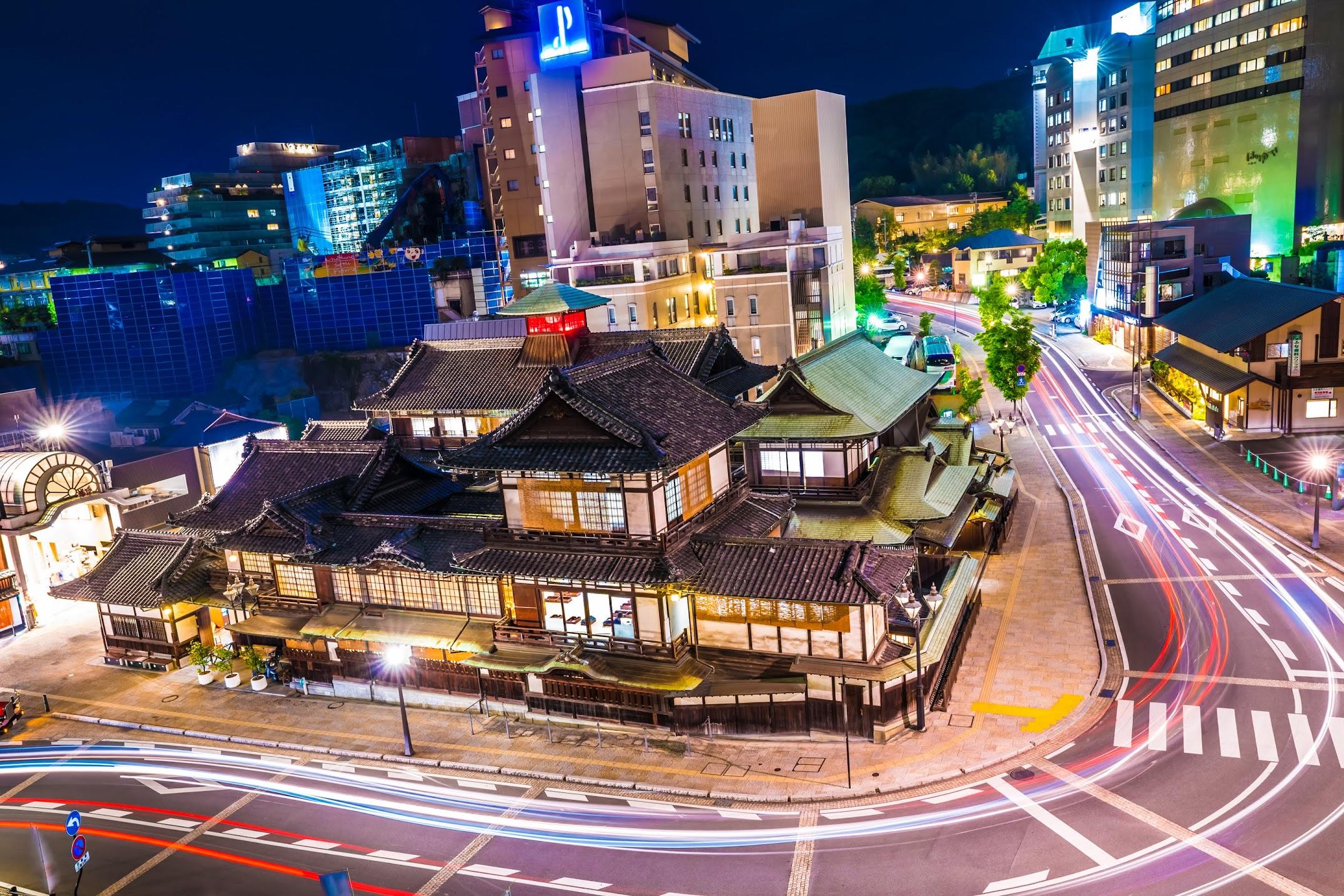 Dogo Onsen Honkan night1