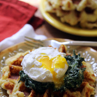 Potato Waffle Eggs Florentine.