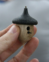 Photo: For his second act, Bob is going to make one of the little acorn birdhouse ornaments that he is also famous for -- with luck, it will look pretty much like this one.