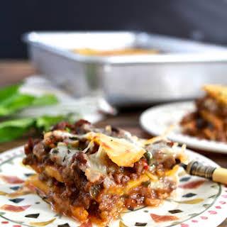 """Pastelón (Sweet Plaintain """"Lasagna"""")."""
