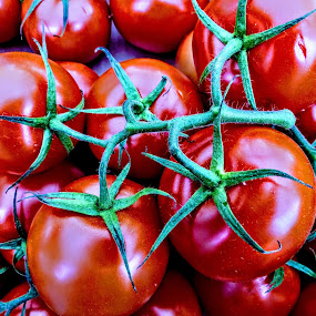 Good Enough To Eat  by Ian Popple - Food & Drink Fruits & Vegetables ( colourful, red, macro photography, food, tomatoes,  )