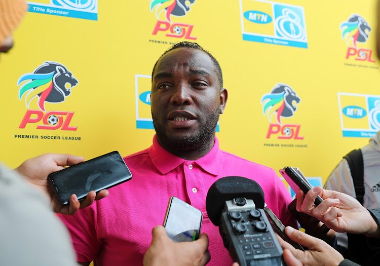 Cape Town City coach Benni McCarthy speaks to the media during the MTN8 media day at Hartleyvale, Cape Town on September 25 2018.