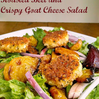 Roasted Beet and Crispy Goat Cheese Salad.