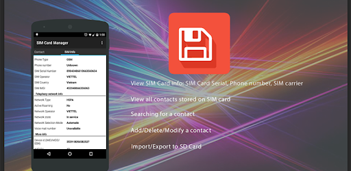 supprimer code pin carte sim SIM Card Manager (Utility) – Applications sur Google Play