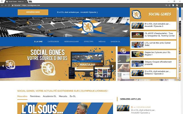 Social Gones - Actualités Olympique Lyonnais