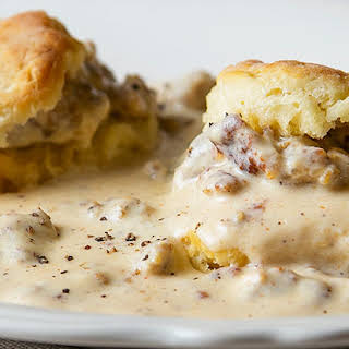 Sausage Gravy and Biscuits.