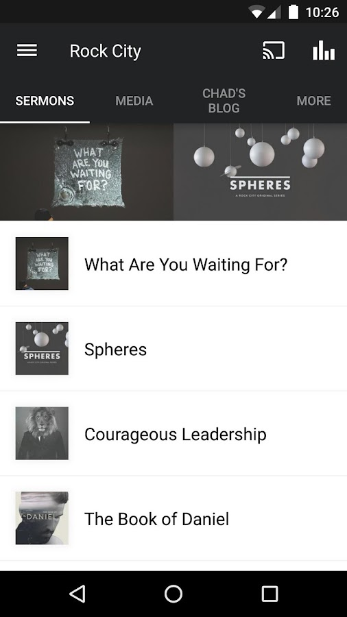 Rock City Church official app- screenshot