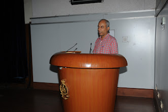 Photo: Prof. Kannan Moudgalya, Indian Institute of Technology Bombay, speaking on Spoken Tutorial and Open Source Software Technology.