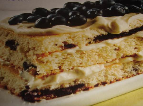 Layerd Lemon Blueberry Cake Recipe