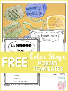 color shape poetry writing - free templates