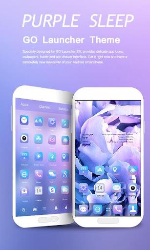 Purple Sleep GO Launcher Theme