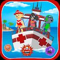 Rescue patrol: Marine emergency laboratory icon
