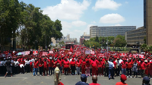 EFF supporters stage a protest march in February 2016. Picture: SHENAAZ JAMAL