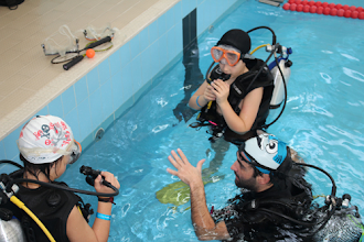 Photo: Mergulho com botija foi uma das atividades