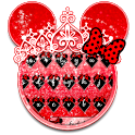 Red Cute Bow keyboard icon