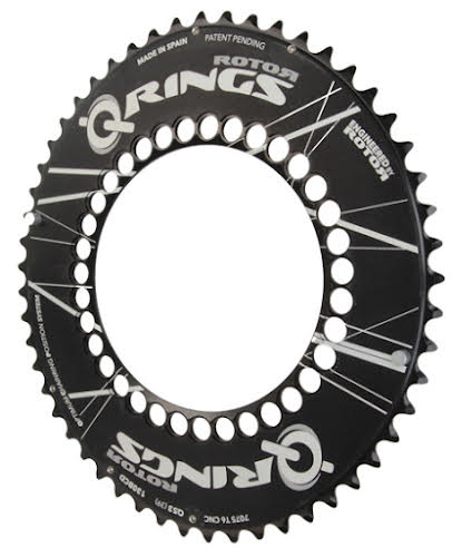 Rotor Qring 53t Chainring 130 BCD Black Outer