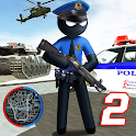 US Police Stickman Vegas Rope Hero City Gangster 2 icon