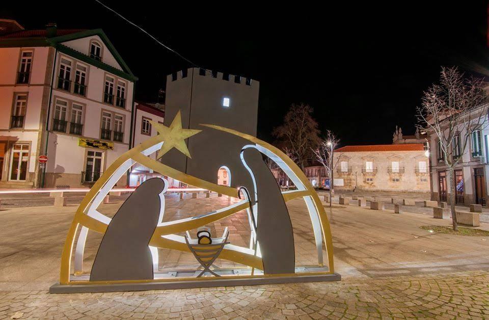 Presépio de Natal com a representação do Castelo de Lamego