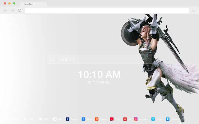 Final Fantasy New Tab Page HD Games Theme