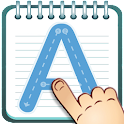Alphabet writing for kids icon