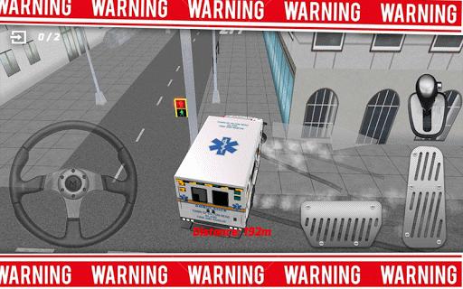 救急車の運転手の3D