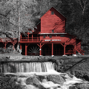 Old Hodgson Mill by Wesley Nesbitt - Buildings & Architecture Public & Historical ( water mill, historic )
