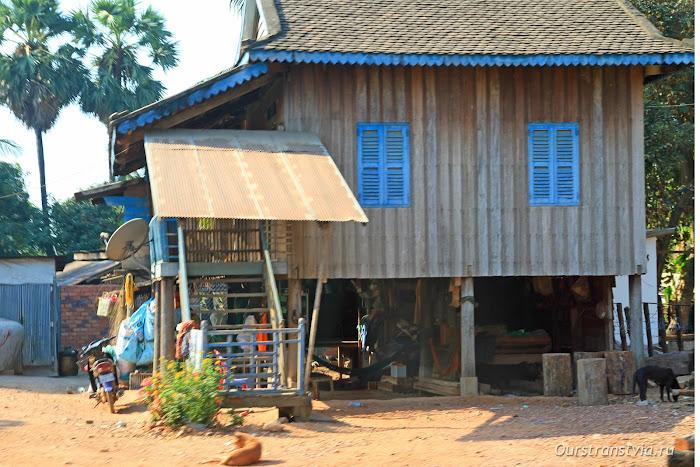 Как выглядят дома в Камбодже