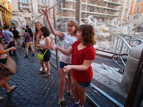 Photo: Trevi fountain, under renovation. Threw coins in anyway.