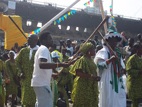 Photo: Another group, Eyo Eletu Iwasee on parade at TBS