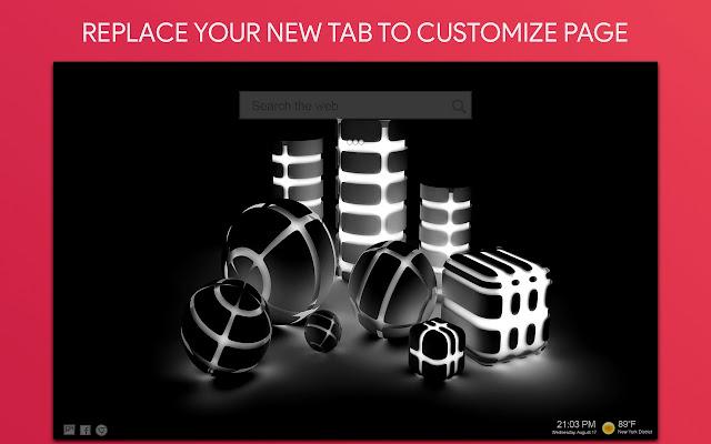 Black - Dark Wallpaper HD Custom New Tab