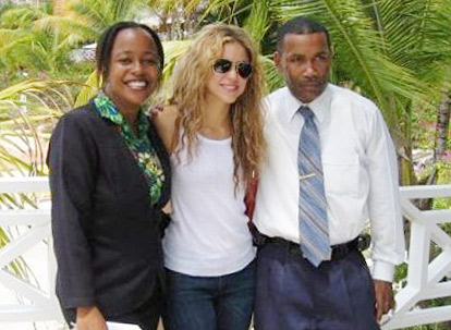 Shakira poses in Tobago, the less visited half of Trinidad and Tobago.