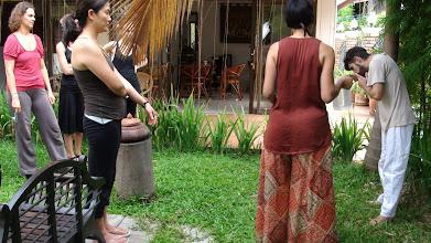 Photo: Daniel Fonseca demonstrating Jalaneti Kriya (Nasal Cleansing technique) during Yoga Teacher Training Course in Chiang Mai, Thailand.