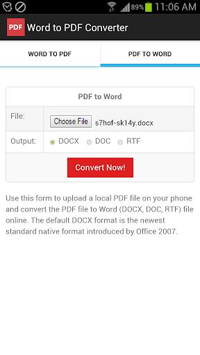 Word to PDF Converter screenshots 2