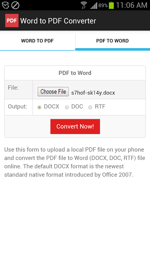 Word to PDF Converter- screenshot