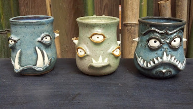 Photo: Mugs 4 Blue one on Right- Sold