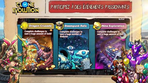 Télécharger Gratuit Clone Evolution: Bataille RPG-Combat futur Fantasy mod apk screenshots 2