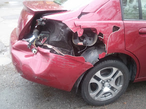 Photo: back end of our car - oct 28