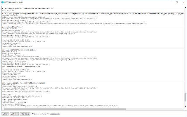 HTTP Header Live
