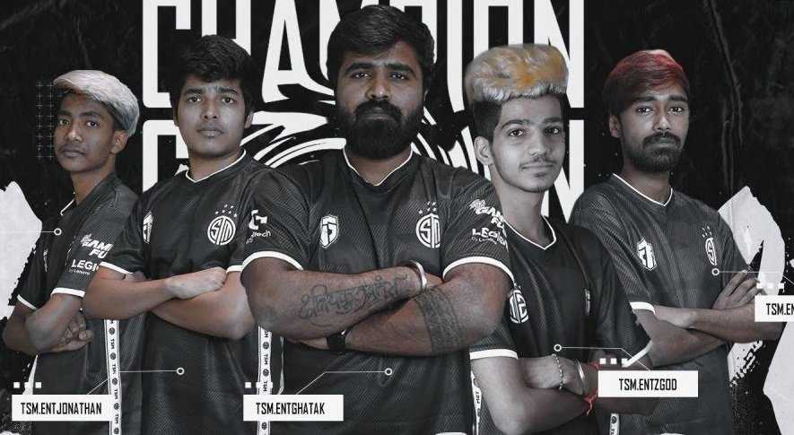 The PUBG Mobile roster of TSM Entity