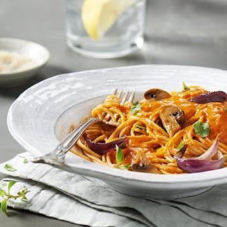 Spaghetti with Roasted Vegetable Sauce.