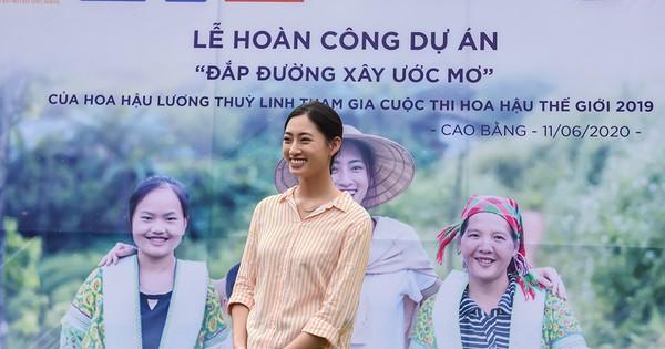 Lương Thuỳ Linh trở lại Lũng Lìu, hoàn thiện con đường từ thiện hơn 2 tỷ  đồng