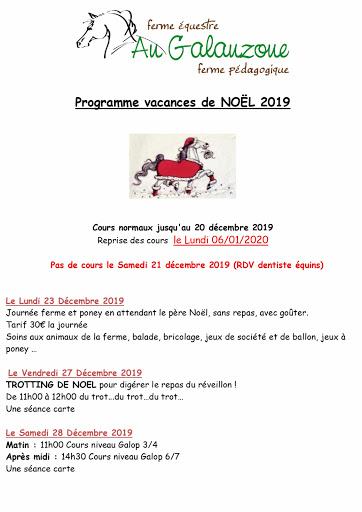Programme Noël 001