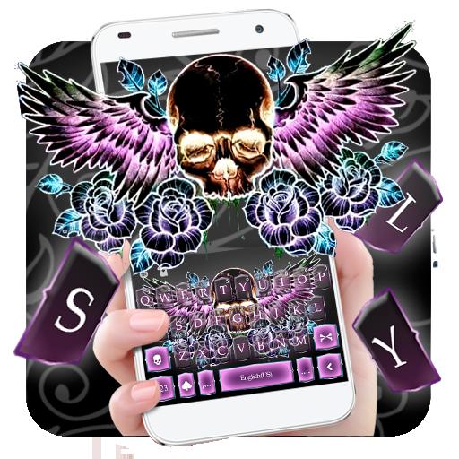 Skull Wing Tattoo Keyboard Theme Icon