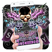Skull Wing Tattoo Keyboard Theme