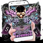 Skull Wing Tattoo Keyboard Theme