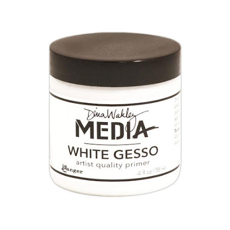 Dina Wakley Media Gesso 118ml Jar - White