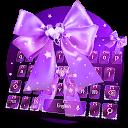 Starry Purple Bow Keyboard APK