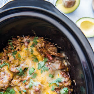 Slow Cooker Spicy Steak, Rice, Lentils & Quinoa.