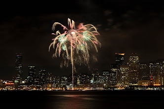 Photo: Palm trees by the Bay San Francisco, CA. 2013.  The last of my new years celebration fireworks frames. I had resisted coming out to Treasure Island to shoot the SF skyline in the last year and a half since i picked up a camera again, and I'm glad that I finally made it here on this occasion.  #sanfrancisco  #fireworks  #newyear2013